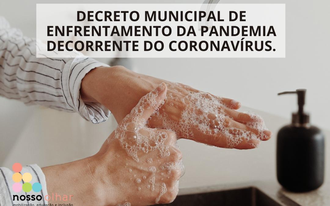 Decreto de calamidade pública no Município de São Paulo para enfrentamento da pandemia de Covid-19