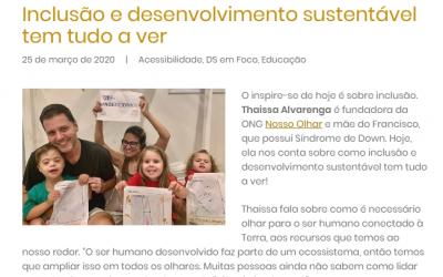 Fundadora da ONG Nosso Olhar participa de palestra para funcionários do MC Donald's